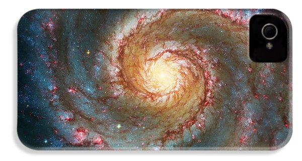 Whirlpool Galaxy  IPhone 4 Case by Jennifer Rondinelli Reilly - Fine Art Photography