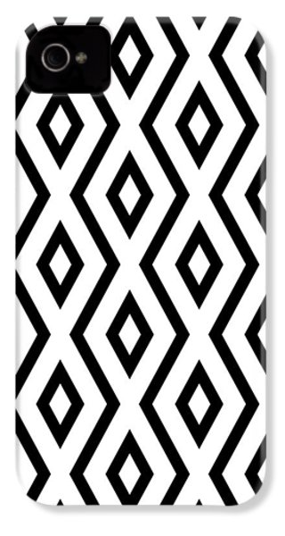 White And Black Pattern IPhone 4 Case by Christina Rollo