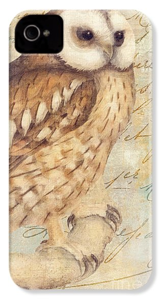 White Faced Owl IPhone 4 Case by Mindy Sommers