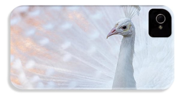 IPhone 4 Case featuring the photograph White Peacock by Sebastian Musial
