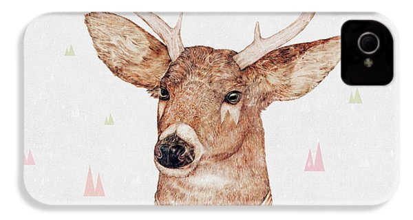 White Tailed Deer Square IPhone 4 Case by Animal Crew