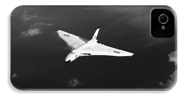IPhone 4 Case featuring the digital art White Vulcan B1 At Altitude Black And White Version by Gary Eason
