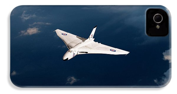 IPhone 4 Case featuring the digital art White Vulcan B1 At Altitude by Gary Eason
