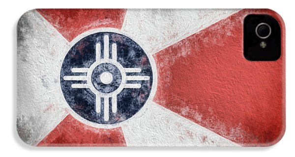 IPhone 4 Case featuring the digital art Wichita City Flag by JC Findley
