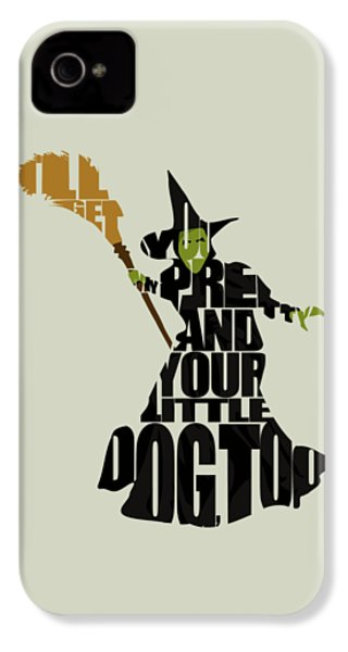 Wicked Witch Of The West IPhone 4 Case by Ayse Deniz