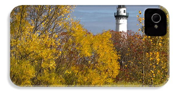 Wind Point Lighthouse In Fall IPhone 4 Case by Ricky L Jones