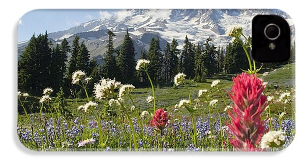 Wildflowers In Mount Rainier National IPhone 4 / 4s Case by Dan Sherwood
