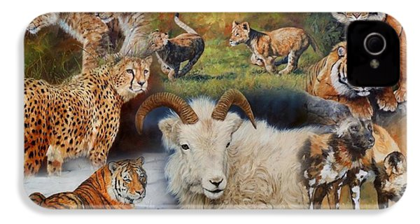 Wildlife Collage IPhone 4 Case by David Stribbling