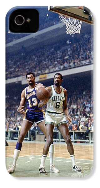 Wilt Chamberlain (1936-1999) IPhone 4 Case by Granger