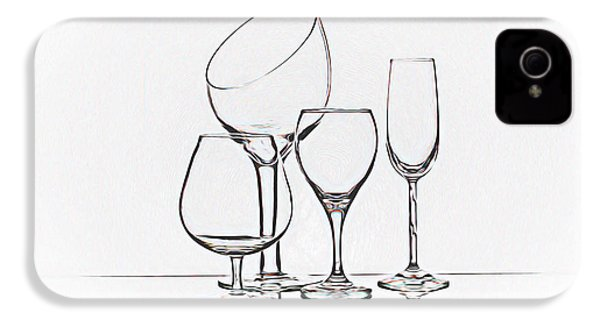 Wineglass Graphic IPhone 4 Case by Tom Mc Nemar