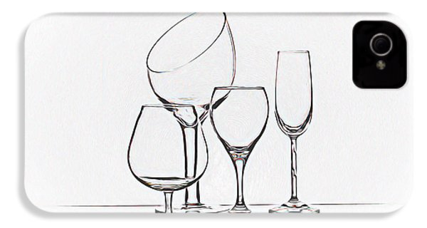 Wineglass Graphic IPhone 4 Case by Tom Mc Nemar