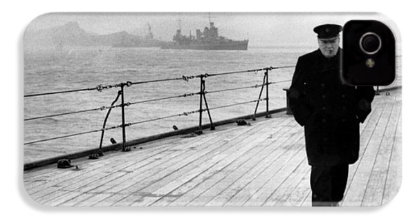Winston Churchill At Sea IPhone 4 Case by War Is Hell Store