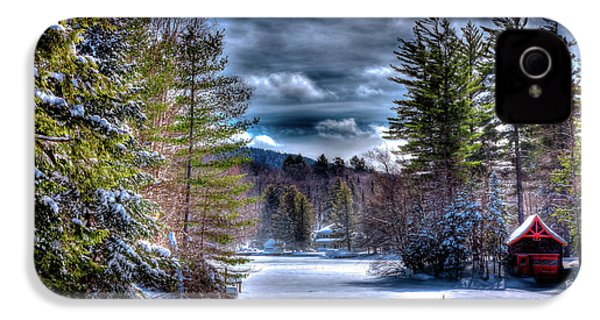 IPhone 4 Case featuring the photograph Winter At The Boathouse by David Patterson
