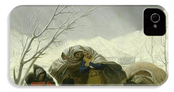 Winter Scene IPhone 4 Case by Goya