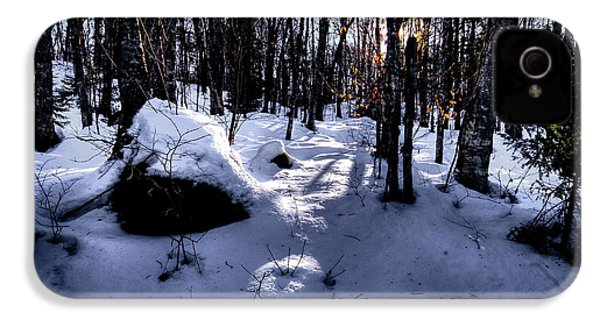 IPhone 4 Case featuring the photograph Winters Shadows by David Patterson
