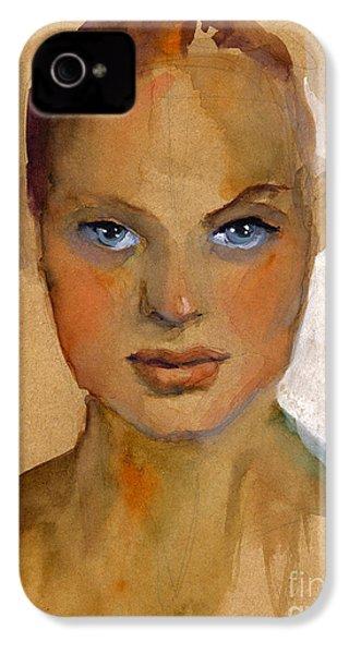 Woman Portrait Sketch IPhone 4 Case