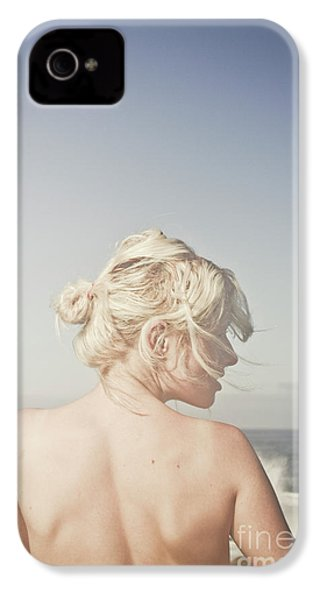 IPhone 4 Case featuring the photograph Woman Relaxing On The Beach by Jorgo Photography - Wall Art Gallery