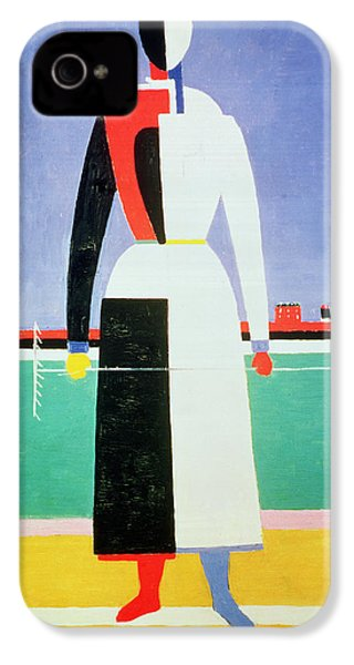 Woman With A Rake IPhone 4 Case by Kazimir Severinovich Malevich