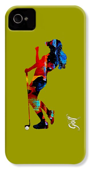 Womens Golf Collection IPhone 4 Case
