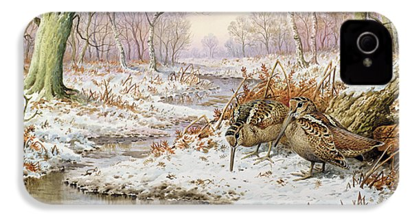 Woodcock IPhone 4 Case by Carl Donner