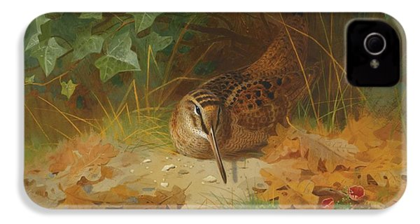 Woodcock IPhone 4 Case by Celestial Images