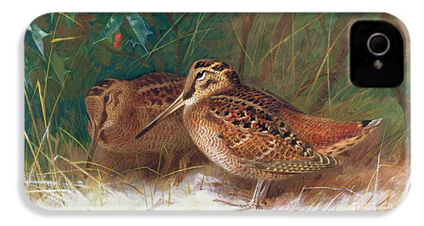 Woodcock In The Undergrowth IPhone 4 Case by Archibald Thorburn
