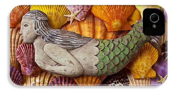 Wooden Mermaid IPhone 4 Case by Garry Gay