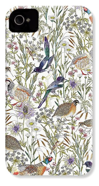 Woodland Edge Birds IPhone 4 Case by Jacqueline Colley