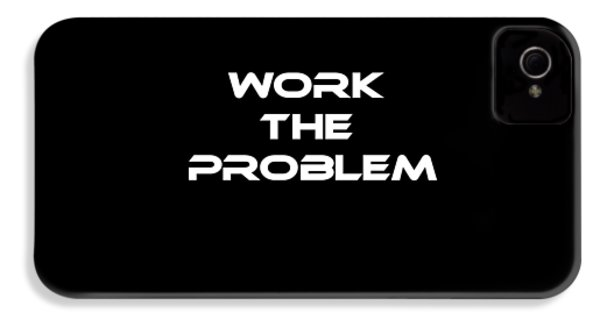 Work The Problem The Martian Tee IPhone 4 Case by Edward Fielding