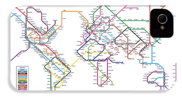 World Metro Tube Subway Map IPhone 4 Case by Michael Tompsett