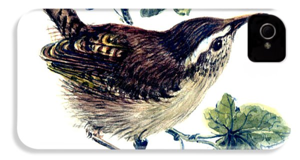Wren In The Ivy IPhone 4 Case by Nell Hill