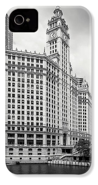 IPhone 4 Case featuring the photograph Wrigley Building Chicago by Adam Romanowicz