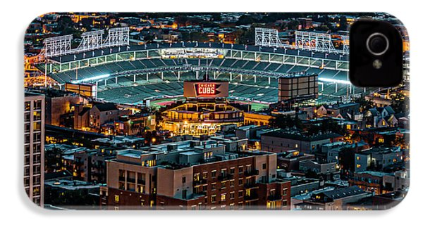 Wrigley Field From Park Place Towers Dsc4678 IPhone 4 Case by Raymond Kunst