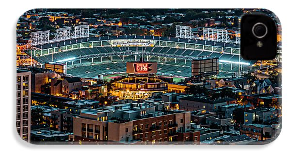 Wrigley Field From Park Place Towers Dsc4678 IPhone 4 / 4s Case by Raymond Kunst