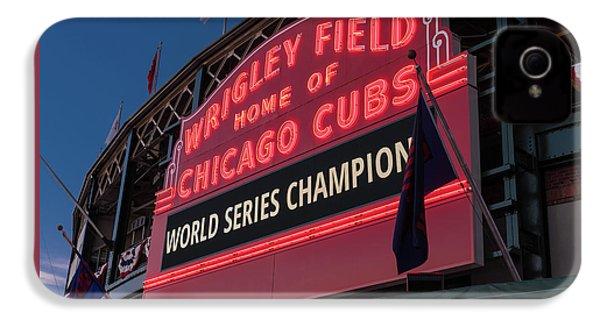 Wrigley Field World Series Marquee IPhone 4 Case by Steve Gadomski