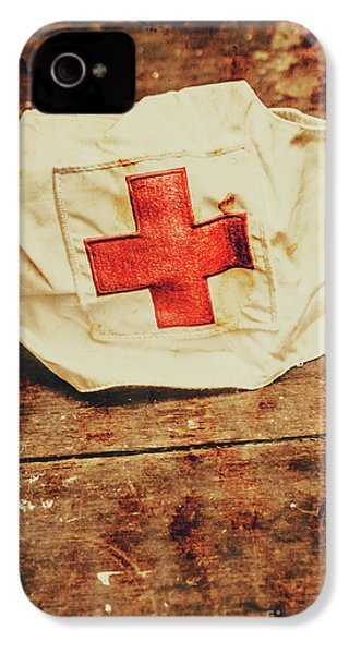 Ww2 Nurse Hat. Army Medical Corps IPhone 4 Case