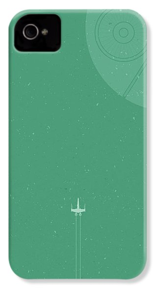 X-wing Meets Death Star IPhone 4 Case by Samuel Whitton