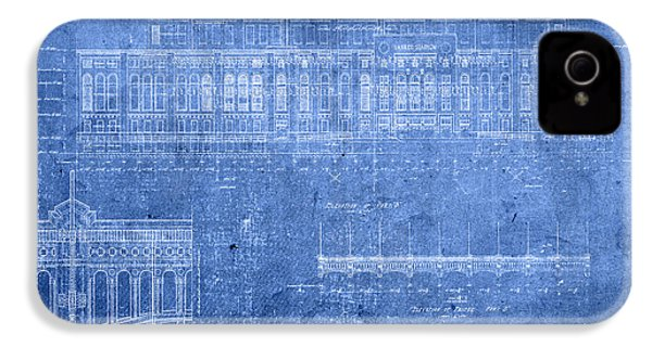 Yankee Stadium New York City Blueprints IPhone 4 Case by Design Turnpike