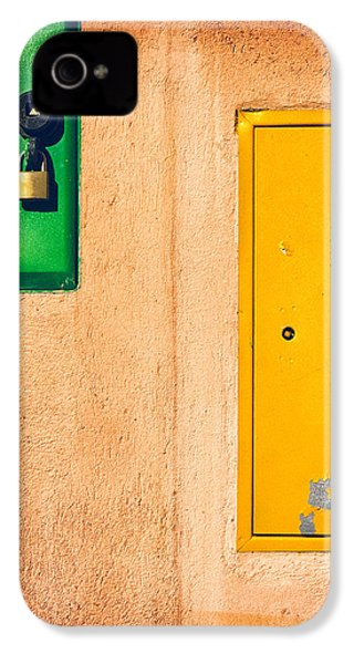Yellow And Green IPhone 4 Case by Silvia Ganora
