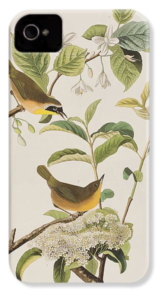 Yellow-breasted Warbler IPhone 4 / 4s Case by John James Audubon