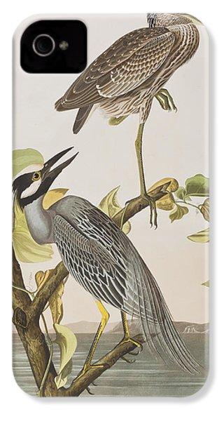 Yellow Crowned Heron IPhone 4 Case by John James Audubon