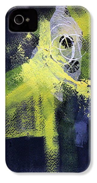 IPhone 4 Case featuring the painting Yellow Splash by Nancy Merkle