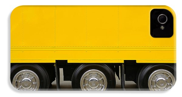 Yellow Truck IPhone 4 Case by Carlos Caetano