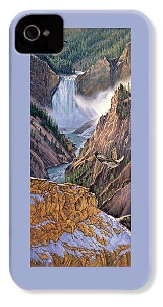 Yellowstone Canyon-osprey IPhone 4 Case by Paul Krapf
