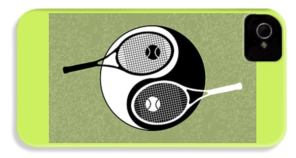 Yin Yang Tennis IPhone 4 Case by Carlos Vieira