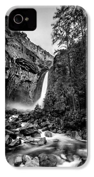 Yosemite Waterfall Bw IPhone 4 Case by Az Jackson