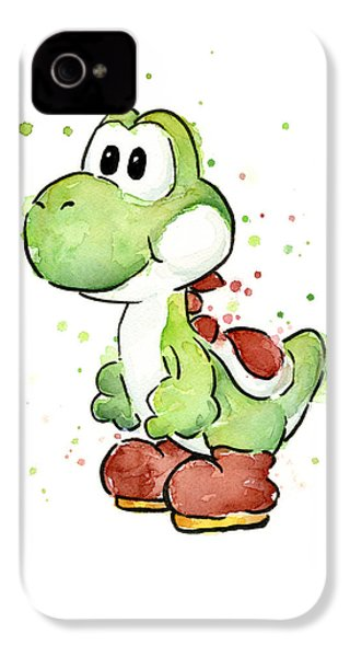 Yoshi Watercolor IPhone 4 Case by Olga Shvartsur