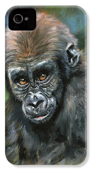 Young Gorilla IPhone 4 / 4s Case by David Stribbling