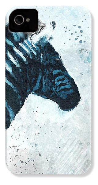 Zebra- Art By Linda Woods IPhone 4 / 4s Case by Linda Woods