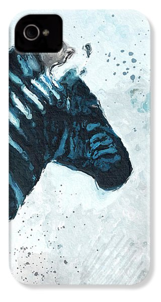 Zebra- Art By Linda Woods IPhone 4 Case by Linda Woods